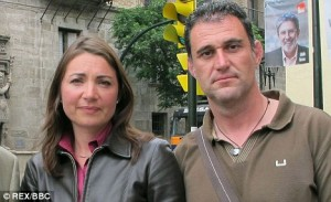 Journalist Katya Adler with Juan Luis Moreno, who was sold as a baby